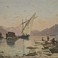 Bord Du Lac A Rivaz by Celestial Images