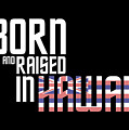 Born And Raised In Hawaii Birthday Gift Nice Design by StyloMart Tees
