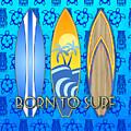 Born To Surf And Tiki Masks by Chris MacDonald