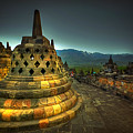 Borobudur Temple Central Java by Charuhas Images