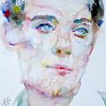 Bosie - Lord Alfred Douglas - Watercolor Portrait by Fabrizio Cassetta