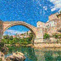 Bosnia Mostar Herzegovina Europe Travel Landmark by Celestial Images