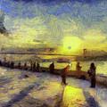 Bosphorus Sunset Art by David Pyatt