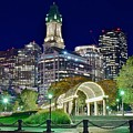 Boston Above Christopher Columbus Park by Frozen in Time Fine Art Photography