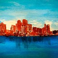 Boston Abstract by Anne Sands