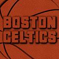Boston Celtics Leather Art by Joe Hamilton