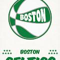 Boston Celtics Vintage Basketball Art by Joe Hamilton