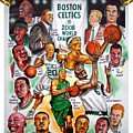 Boston Celtics World Championship Newspaper Poster by Dave Olsen