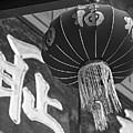 Boston Chinatown Lantern Boston Ma Black And White by Toby McGuire