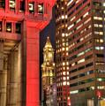 Boston City Hall And The Custom House by Joann Vitali