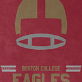 Boston College Eagles Vintage Football Art by Joe Hamilton