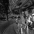Boston Common Carousel Boston Ma Black And White by Toby McGuire