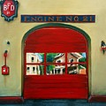 Boston Fire Engine 21 by Paul Walsh