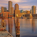 Boston Habor Sunrise by Susan Candelario
