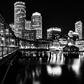 Boston Harbor And The Old Northern Avenue Bridge by Kristen Wilkinson