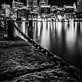 Boston Harbor At Night by Kristen Wilkinson
