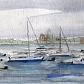 Boston Harbor  by Julie Lueders