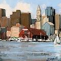 Boston Harbor by Laura Lee Zanghetti