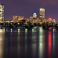 Boston Harbor Nights-panorama by Joann Vitali