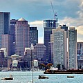 Boston Harbor Pano by Frozen in Time Fine Art Photography