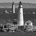 Boston Light With Graves Light by Mike Poland