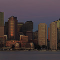 Boston Moonset And Sunrise by Rob Davies