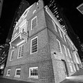Boston Old State House Boston Ma Angle Black And White by Toby McGuire
