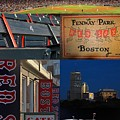 Boston Red Sox And Fenway Park Collage  by Juergen Roth