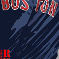 Boston Red Sox Typography Blue by Drawspots Illustrations