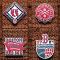 Boston Red Sox World Series Emblems by Diane Diederich