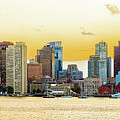 Boston Skyline Abstract by Alan Brown