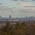 Boston Skyline As Seen From The Summit Of Buck Hill by Brian MacLean