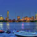 Boston Skyline At The Mit Sailing Pavilion by Joann Vitali