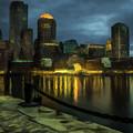 Boston Skyline by David Dehner