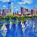 Boston Skyline by Diane Bell