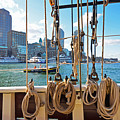Boston Skyline From The Boston Harbor by Toby McGuire