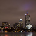 Boston Skyline In Red, White And Blue Boston Massachusetts by Toby McGuire