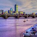 Boston Skyline Sunset by Joann Vitali