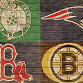 Boston Sports Teams Barn Door by Dan Sproul