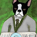 Boston Terrier At A Formal Dinner by JoLynn Potocki
