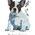 Boston Terrier Pop Art by Tim Wemple
