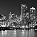 Boston Waterfront Black And White by Toby McGuire