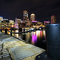Boston Waterfront Skyline View Boston Ma by Toby McGuire