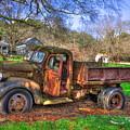Boswell 1947 Dump Truck Farm Scene by Reid Callaway
