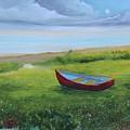 Bote En La Grama  by Alicia Maury