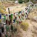 Bottle Fence. by Spirit Vision Photography