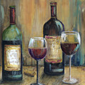 Bottles Of Red by Marilyn Dunlap