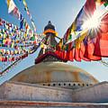 Boudhanath Stupa Kathmandu by U Schade