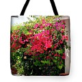 Bougainvillea Courtyard - Tote by Gene Parks