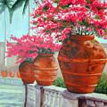 Bougainvillea Pots by SueEllen Cowan